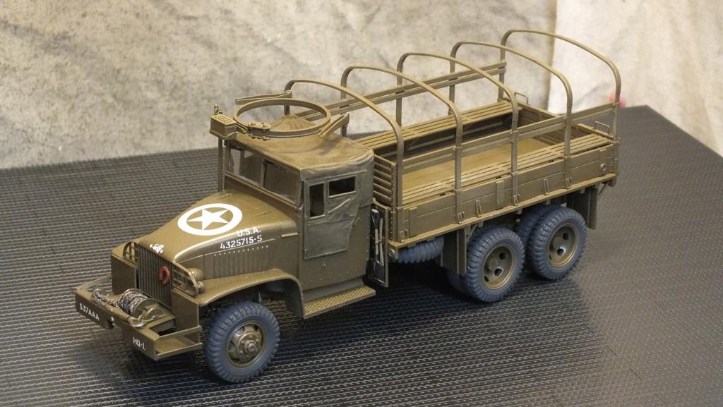 US 2 1/2 Ton 6X6 Cargo Truck Tamiya 35218 avec accessoire 35231 - Page 2 Dscf4332