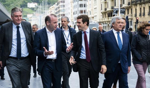 PP   El Grupo del PPE asegura en San Sebastián que será el «freno» al nacionalismo «que quiere debilitar la UE». 48049110