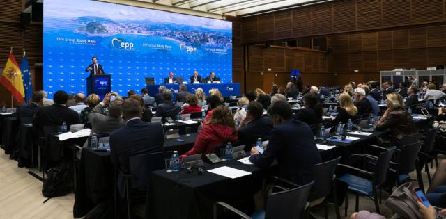 PP | El presidente del Partido Popular, Pablo Casado, ha convocado a los medios para dar una rueda de prensa tras la reunión del Partido Popular Europeo en San Sebastián. 48050710
