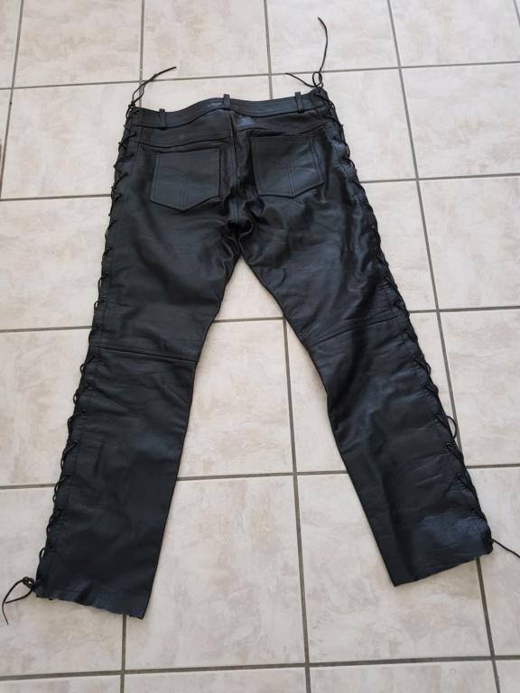 Pantalon cuir Last Rebel à lacet [VENDU] Baea4b10