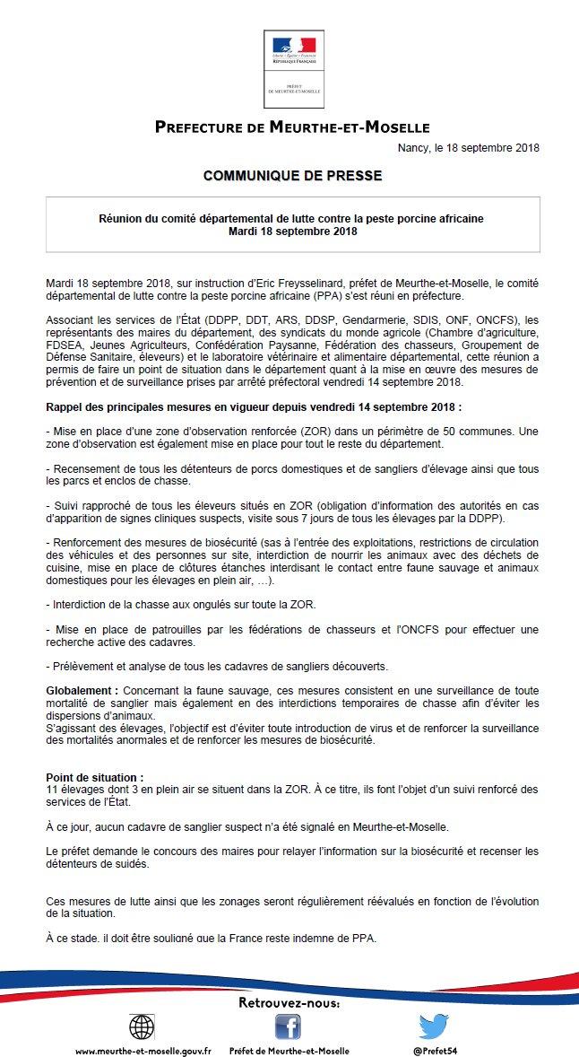 PPA: peste porcine africaine / propagation Dnzcam10
