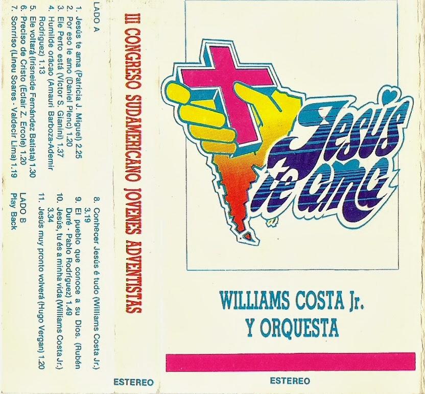 Williams Costa Jr - Jesus Te Ama - Pistas 1991 Cover10