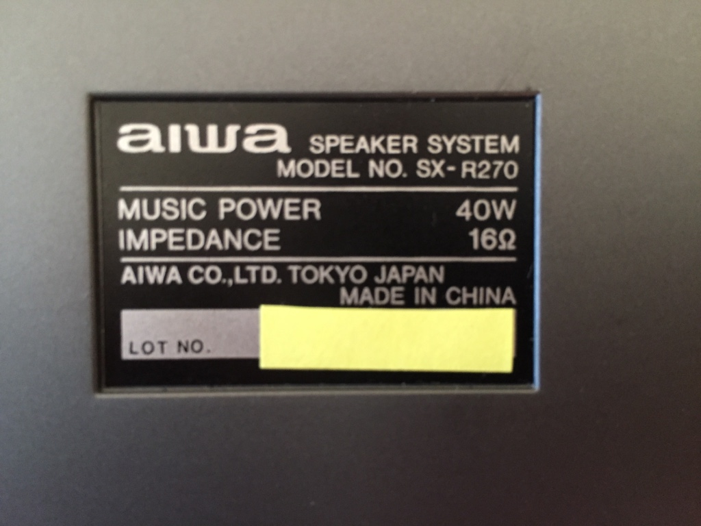 Equipo HiFi SONY años 90 LBT Aiwa_i10