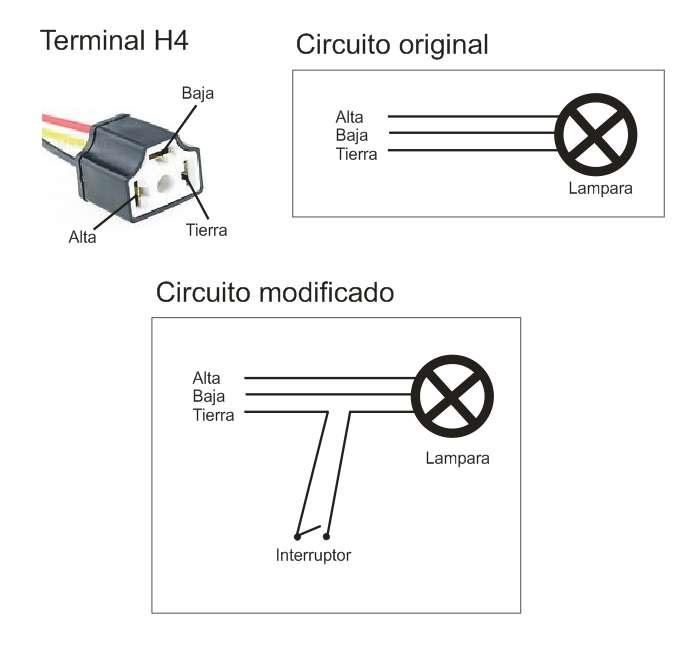 Tecla para apagar la luz principal Cortel10