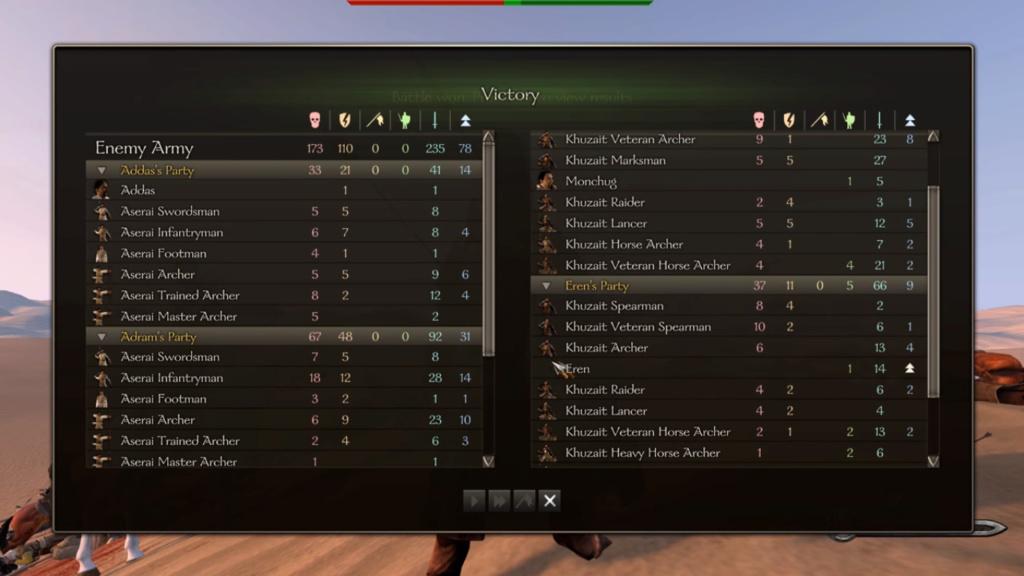Diario semanal de desarrollo de Bannerlord 47: Informe de Batalla Captur10