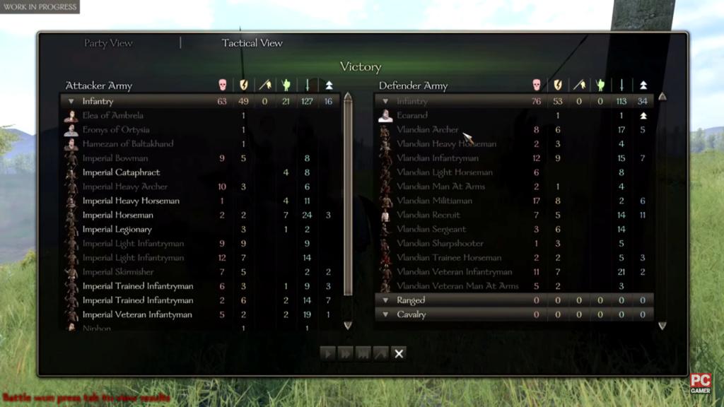 Diario semanal de desarrollo de Bannerlord 47: Informe de Batalla Captur11