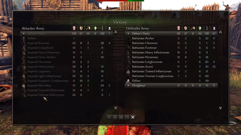 Diario semanal de desarrollo de Bannerlord 47: Informe de Batalla Captur12
