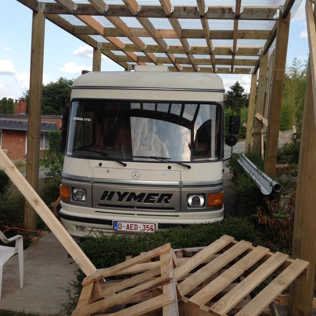 Construction d'un  car-port pour mon Hymer 310D - Page 2 Exte10