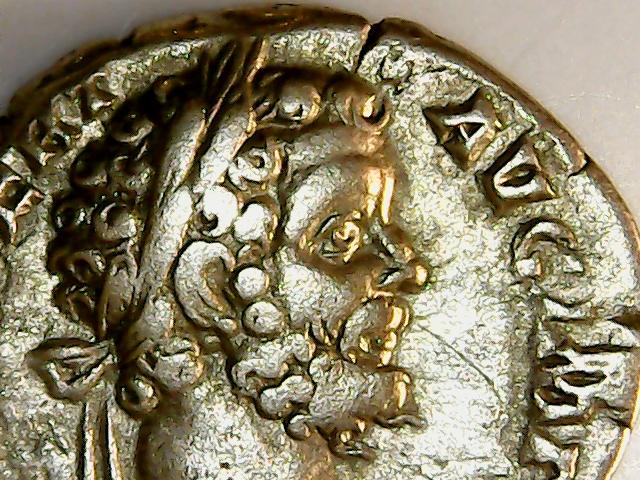 Denario de Septimio Severo. P M TR P II COS II P P. Minerva estante a izq. Roma. 2018-021