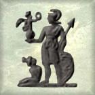 AE2 bajo imperio. REPARATIO - REIPVB. Emperador dando la mano a mujer arrodillada. 232_0010