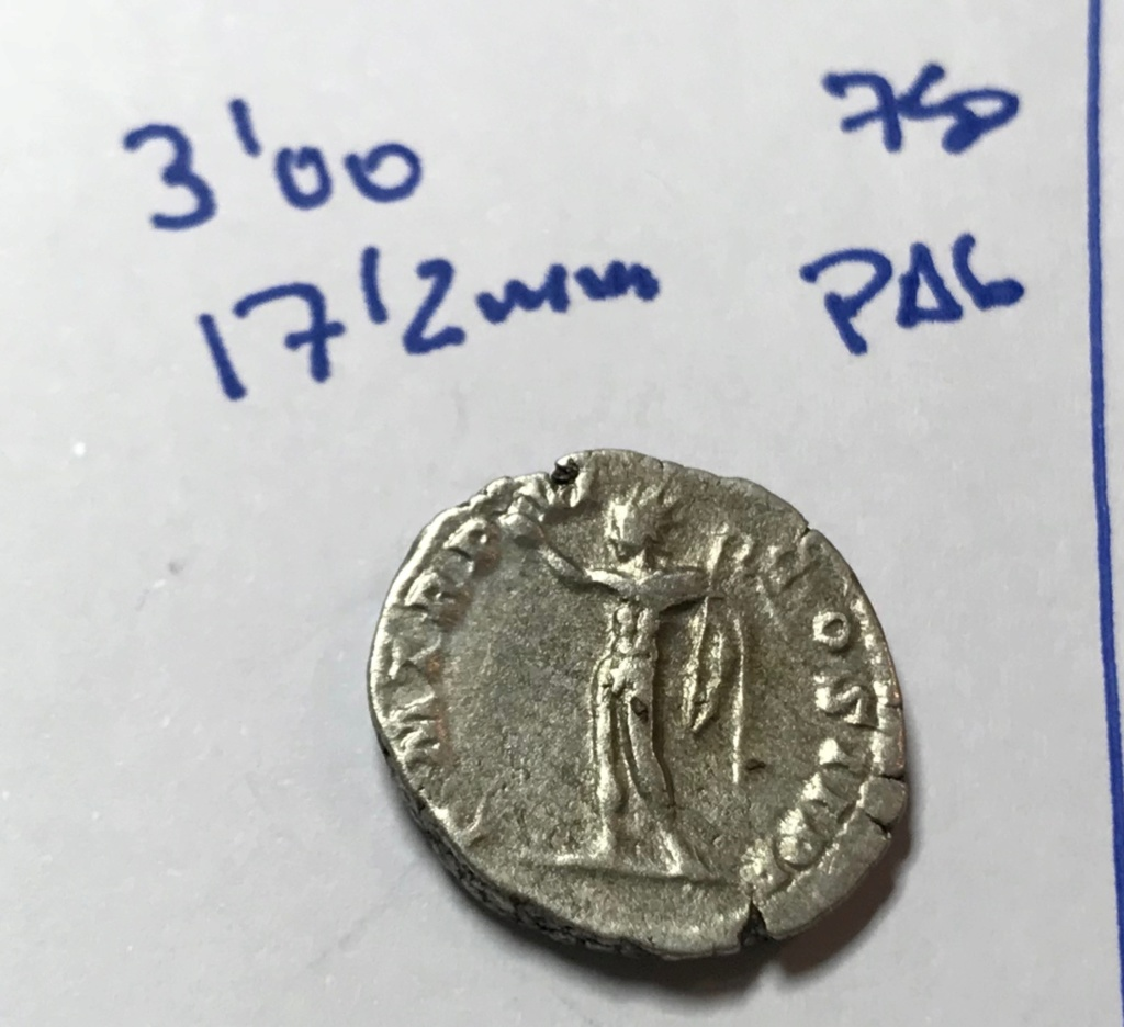 Denario de Septimio Severo. P M TR P VI COS II P P.  Sol estante a izq. Roma. Img_8512