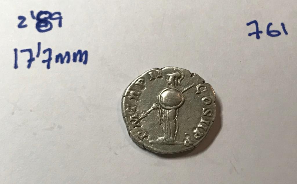 Denario de Septimio Severo. P M TR P II COS II P P. Minerva estante a izq. Roma. Img_8514