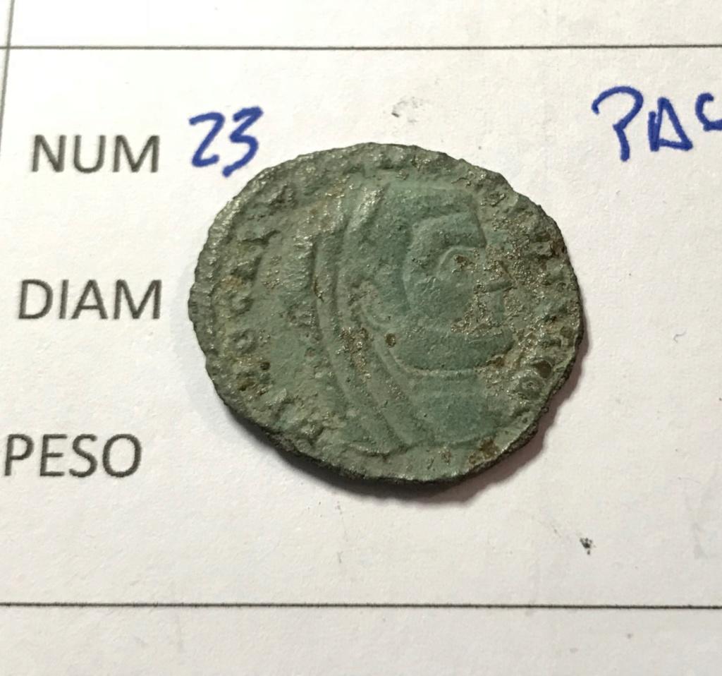 Nummus de Galerio Maximiano. FORTI FORTVNAE. Fortuna estante a izq. Siscia. Img_8616