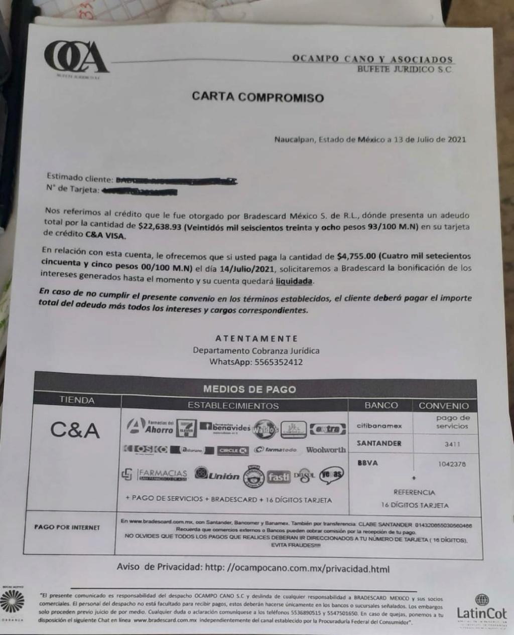 me mandaron esta carta para liquidar c&A Carta_10