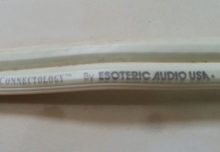 Esoteric USA eliptical bandwith tech. speaker cable. 2018-010