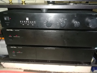 Perraux Pre amp & Rotel RB970BX monoblock(price reduced) Img_2030
