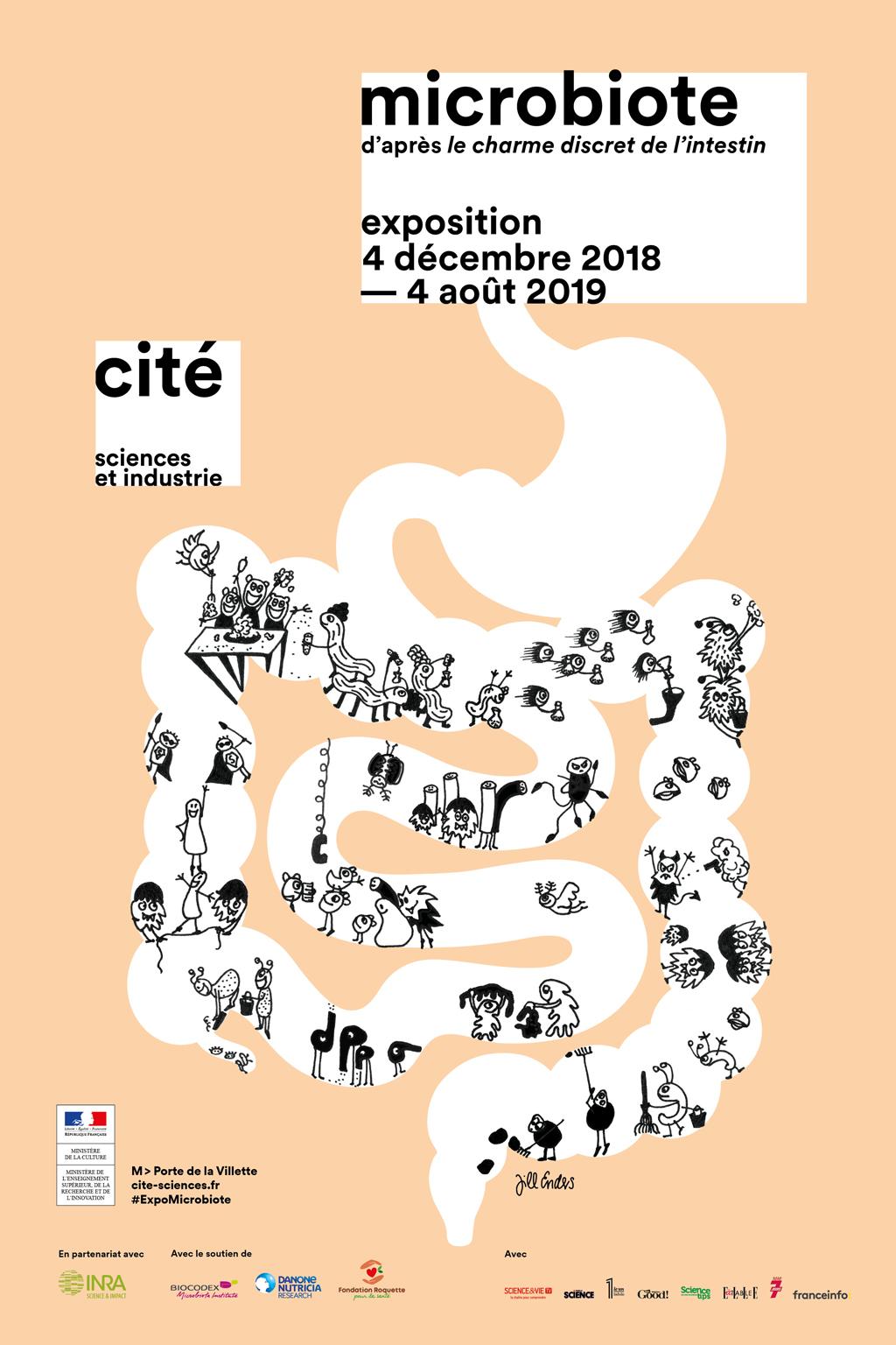 Expo sur l'intestin à la Cité des Sciences : Explique-moi le microbiote ! Intest10