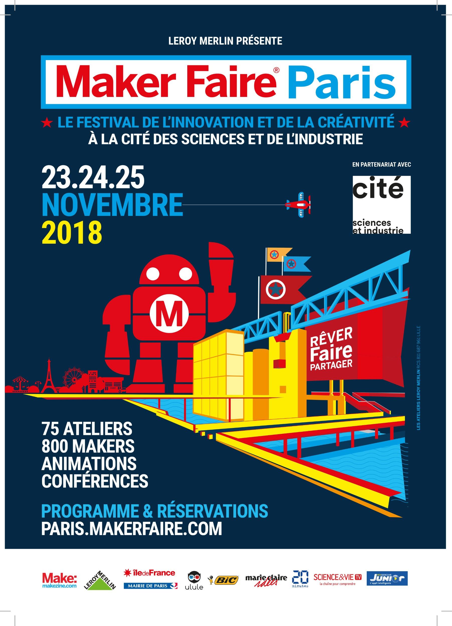 Maker Faire Paris, du 23 au 25 novembre 2018 à la Cité des Sciences Maker_10