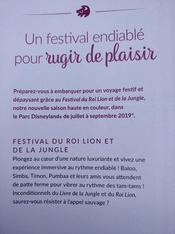 [Saison] Festival du Roi Lion et de la Jungle du 30 juin au 22 septembre 2019 - Page 2 Festiv10