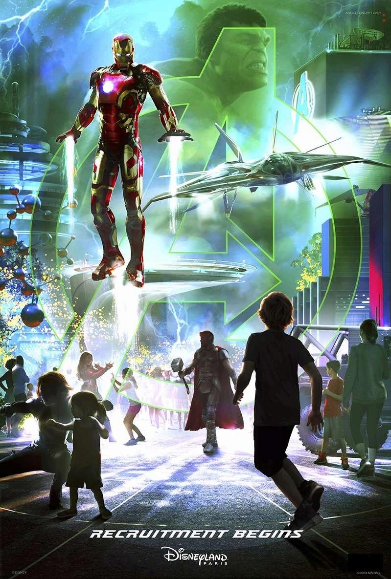 [Parc Walt Disney Studios] Avengers Campus (2021) > infos en page 1 Marvel10