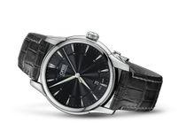 Frederique - monte habillée noire Perrelet classic, frédérique constant slimline  oris artix 6057d410