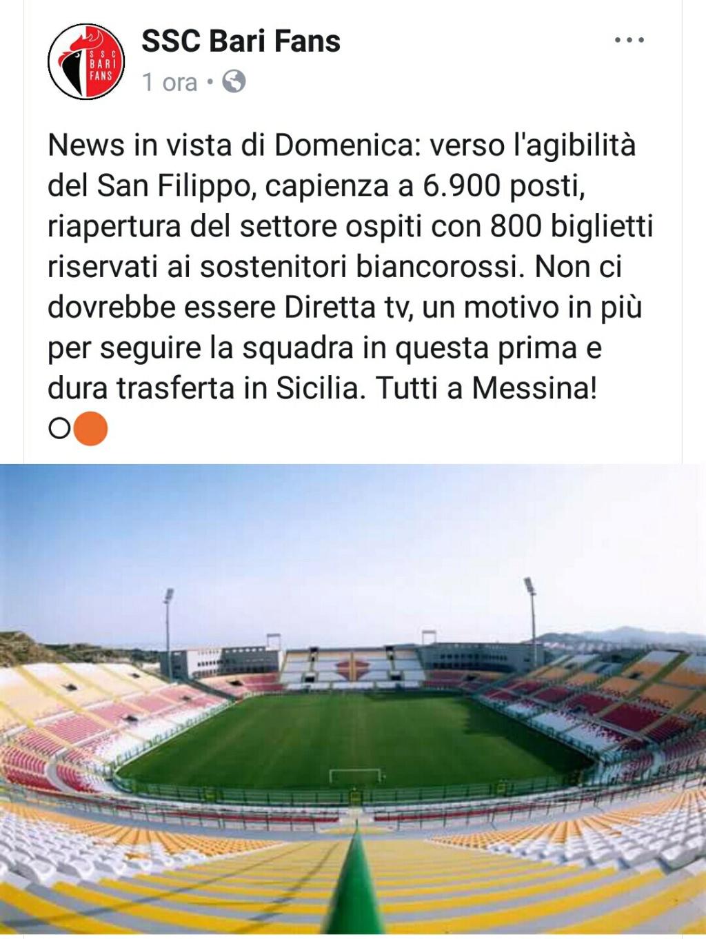 Niente trasferta  per i tifosi a Messina ? Screen11