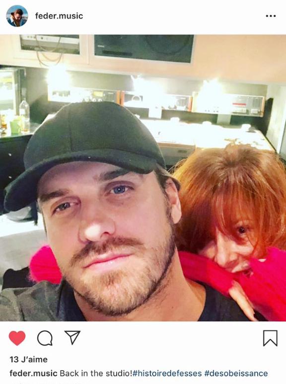 Feder Poste une photo avec Mylène sur son compte Instagram Captur10