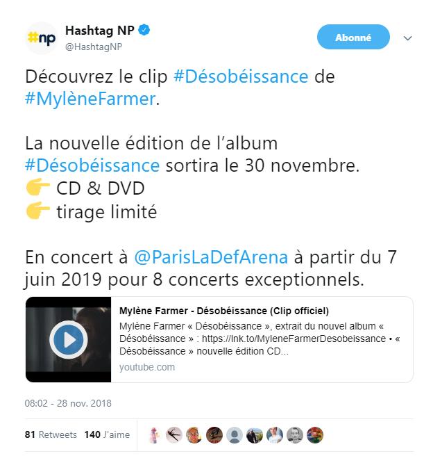 """[Nouvel Album] """"Désobéissance"""" - 28 septembre 2018  - Page 15 Mf10"""