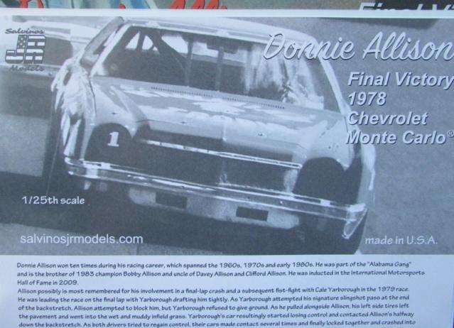 1978 Monte Carlo Nascar Hawain Tropic de Donnie Allison Salvinos Jr 02611