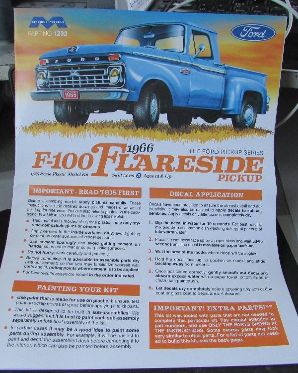 Moebius, 1966 Ford F100 Flareside! 12110
