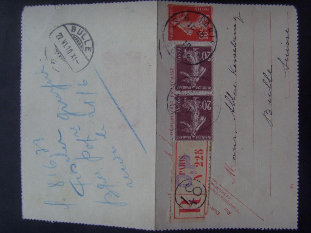 Carte lettre recommandée Si851812