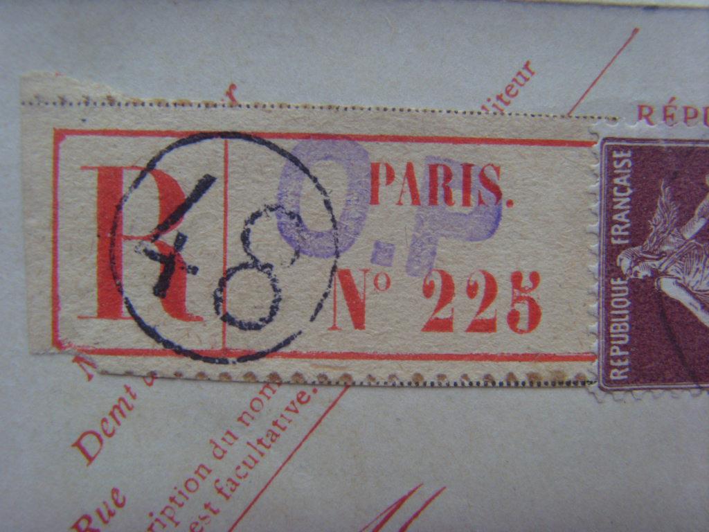 Carte lettre recommandée Si851813