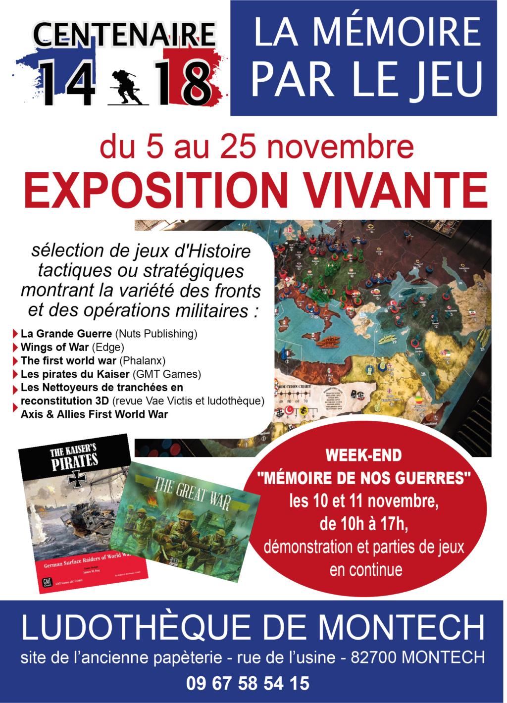 Mémoire de nos guerres 14-18 les 10 et 11 novembre en Tarn et Garonne Affich10