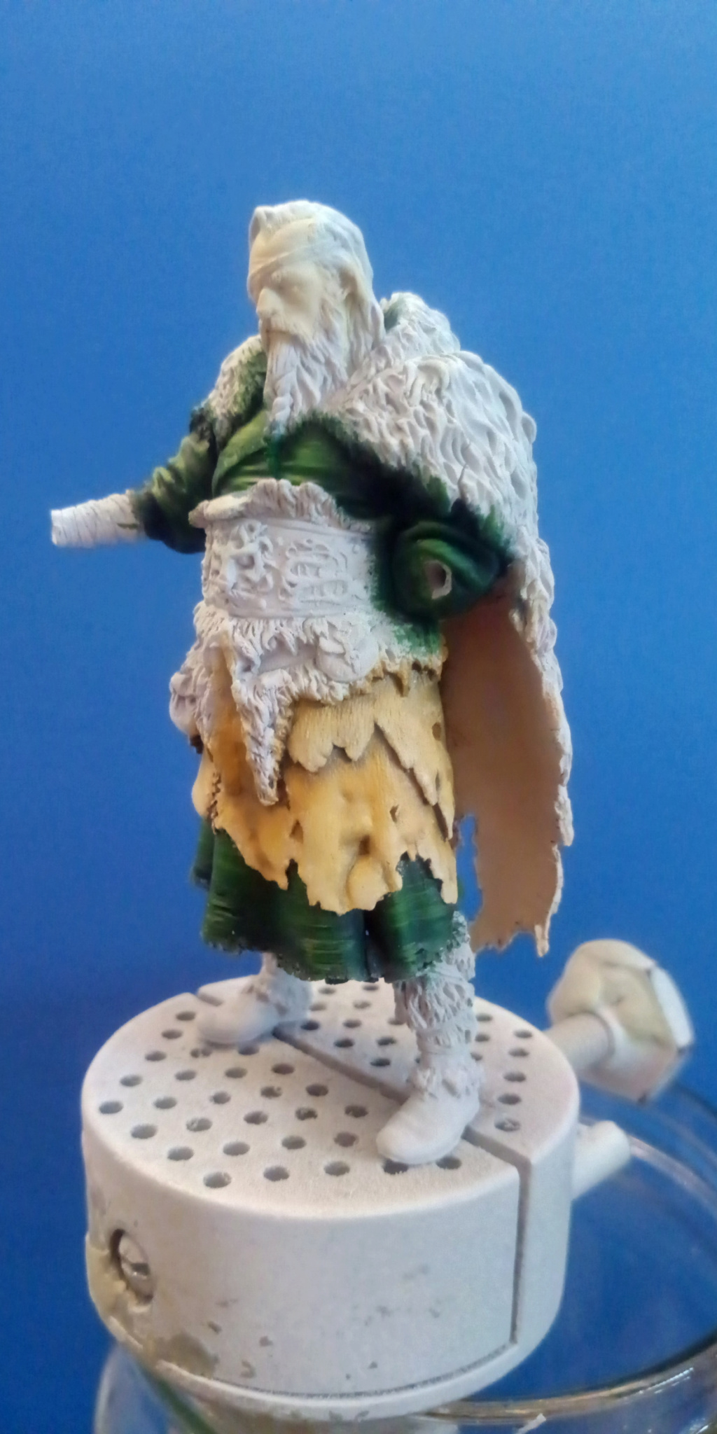 Guerrier viking - masterclass- 75mm - Terminé P_201269