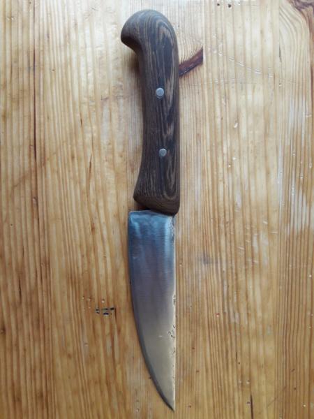 Cuchillo forjado en el curso del poblado Cántabro de Argüeso 20190615