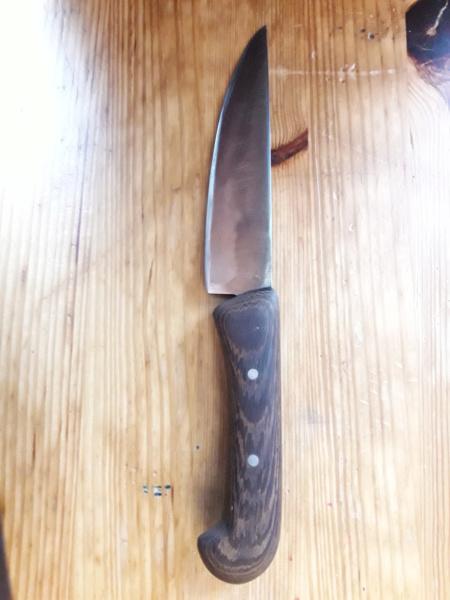 Cuchillo forjado en el curso del poblado Cántabro de Argüeso 20190616