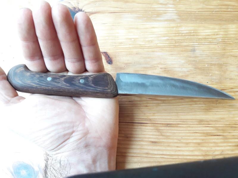 Cuchillo forjado en el curso del poblado Cántabro de Argüeso 20190617