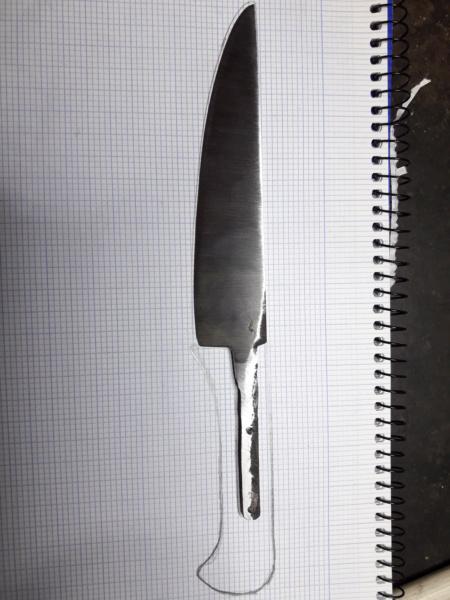 Cuchillo forjado en el curso del poblado Cántabro de Argüeso 20190618