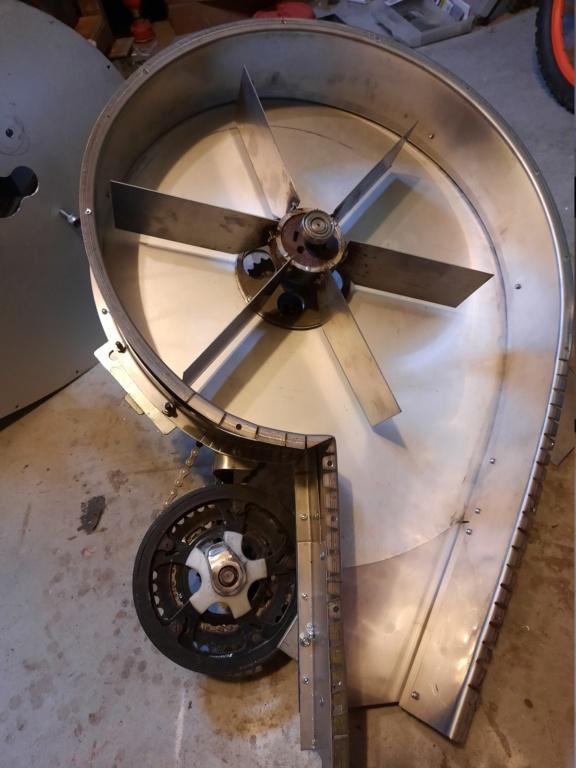 """Fragua en """" V""""  y ventilador casero manual 20200310"""