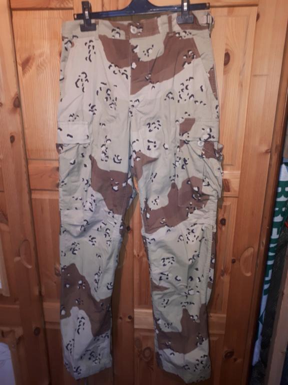 "Desert uniforms (DCU) - DESERT 6 colors ""Chocolate chip""  dated 1984 20200710"