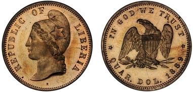 1 Dollar 1961 - Liberia Cent10
