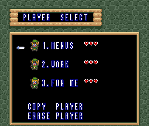 A Link to the Past: Retold Menus10