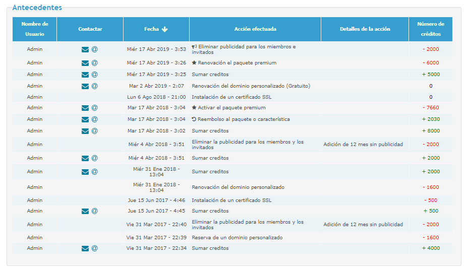 Obtener factura por la compra de créditos 2019-010