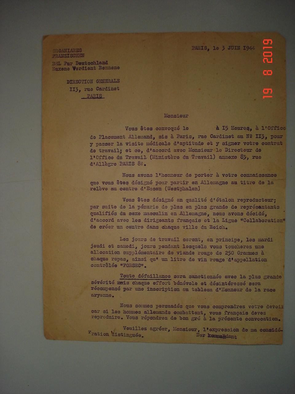 authentification lettre allemande et diplome cjf Dsc00019
