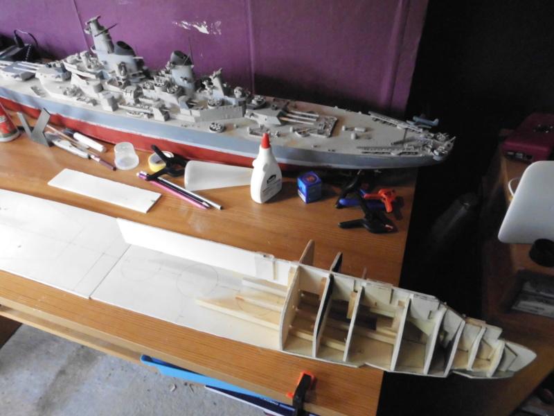 """Maximum Battleship"" Projekt von 1917, ""Tillman IV"" in Holz 1/200 Dsci0011"