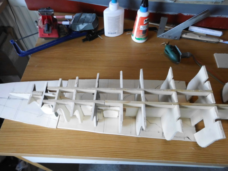 """Maximum Battleship"" Projekt von 1917, ""Tillman IV"" in Holz 1/200 Dsci0014"