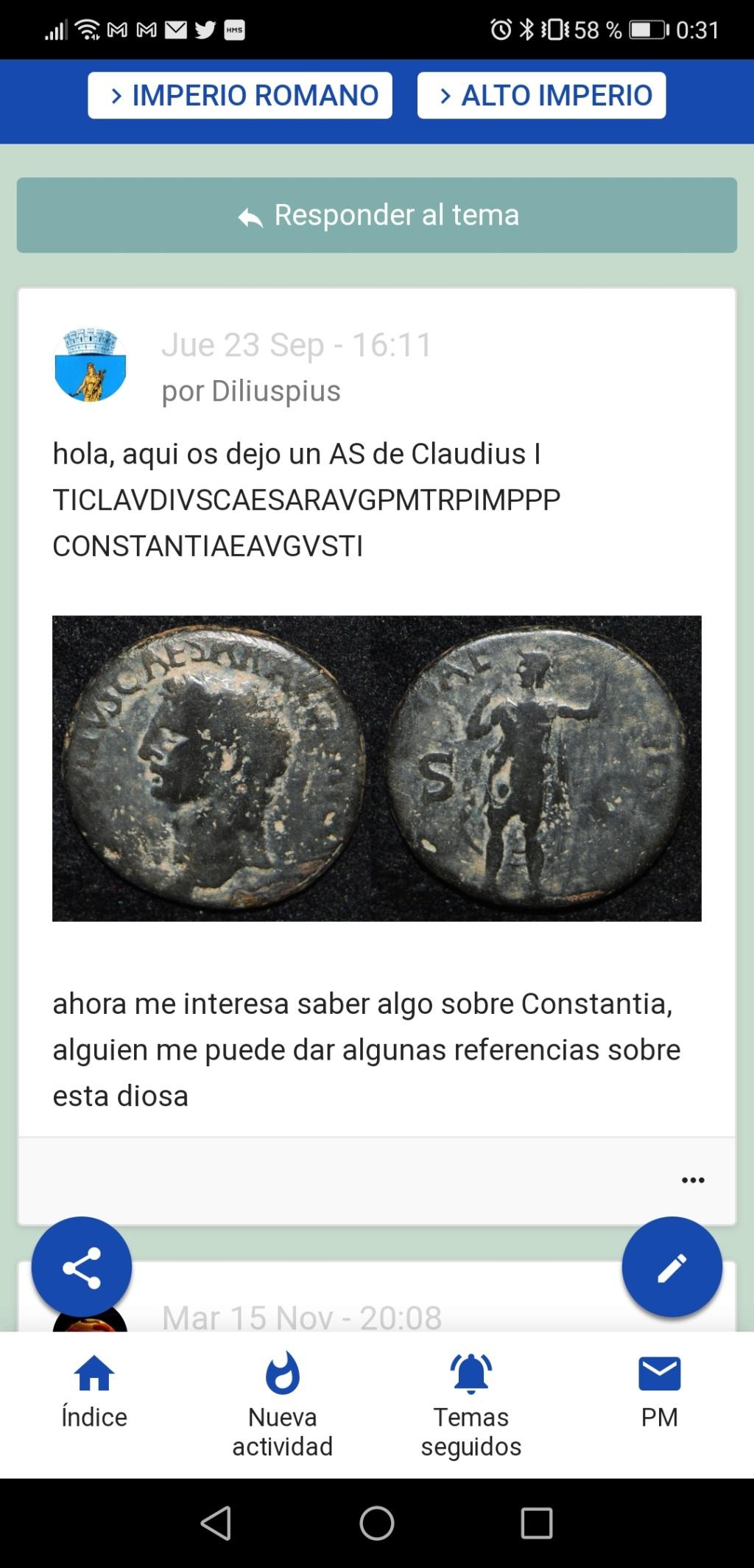 2 Ases de Claudio I. CONSTANTIAE AVGVSTI. ceca no oficial Screen74