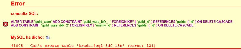 [ERROR] WAR SYSTEM (ERROR EN PHPMYADMIN) Errpr10