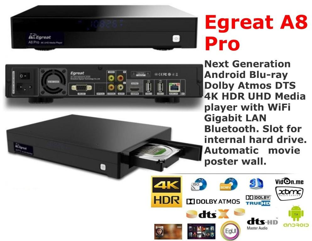 Egreat A8 Professional 4K Bluray Media Player (Used)  Egreat10