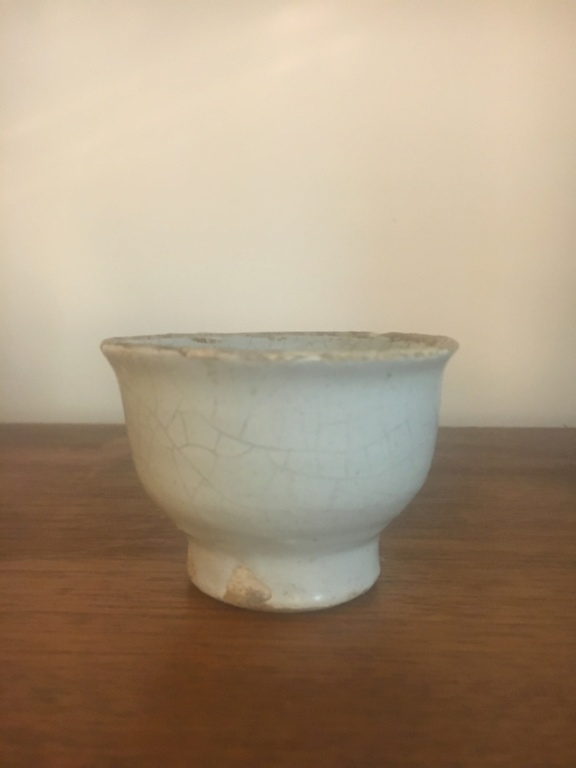 Celadon crackle glaze small pot Img_4924